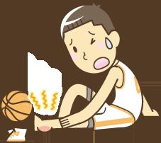 スポーツ怪我イラスト